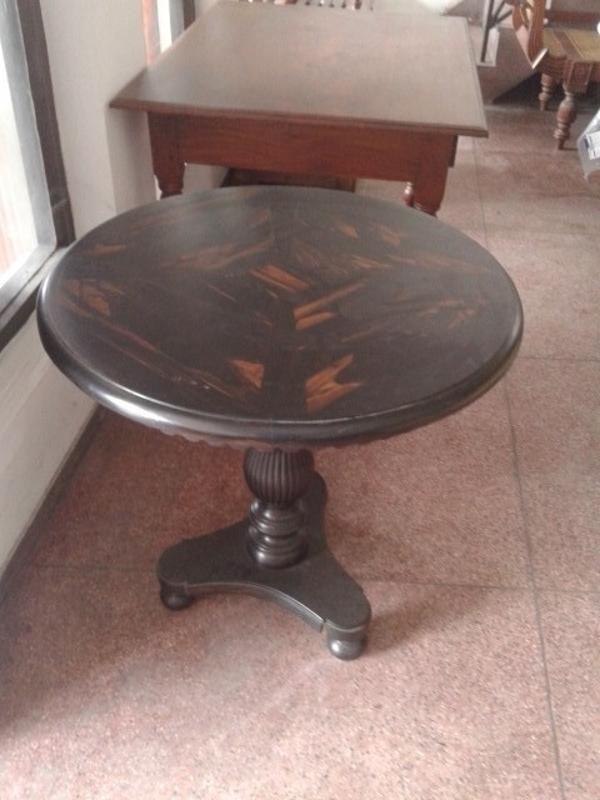 Calamander wood round table