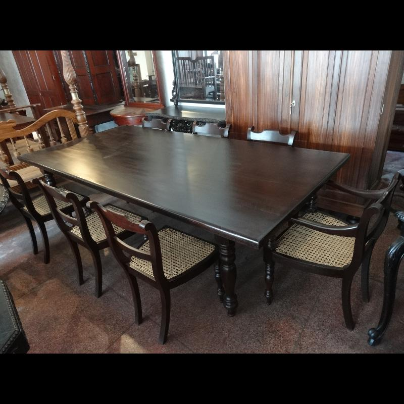 Dining Table With Eight Chairs Aludel Wood Kitchen Table Modern Furniture Sri Lanka Colonial Furniture Furniture Exporter