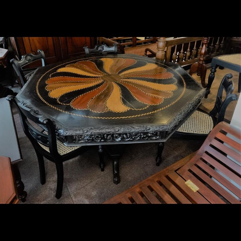 Ebony large Octagon Table