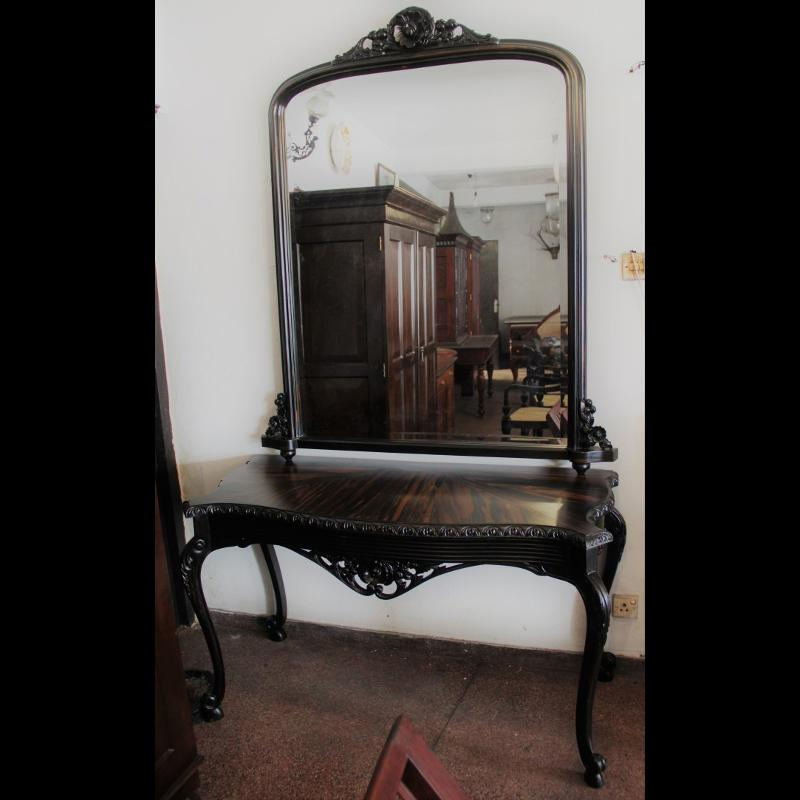 Ebony Mirror Table