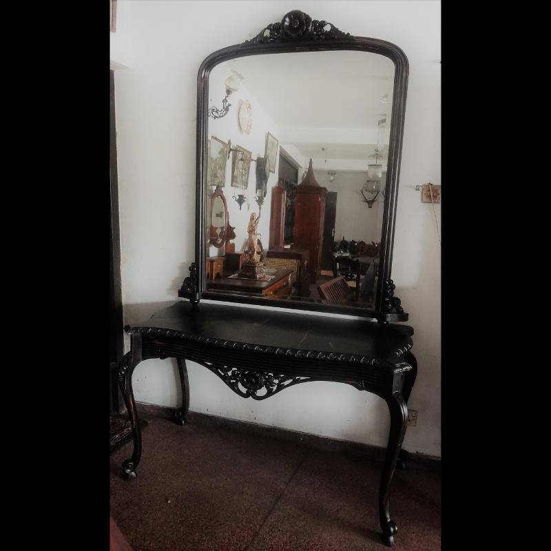 Ebony Mirror Table