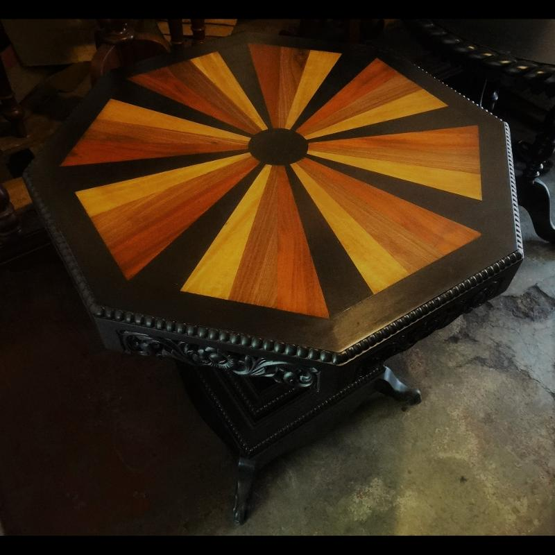 Ebony octagon table