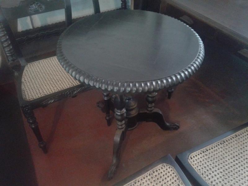 Ebony round table
