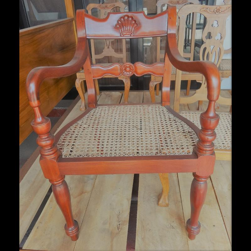 Jack wood Upholstery Chair With Arms