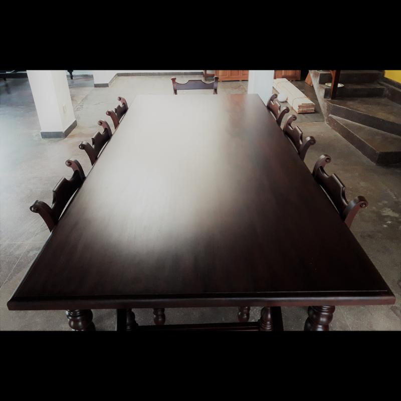 Jackwood Dining Table with eight Chairs Kitchen Table