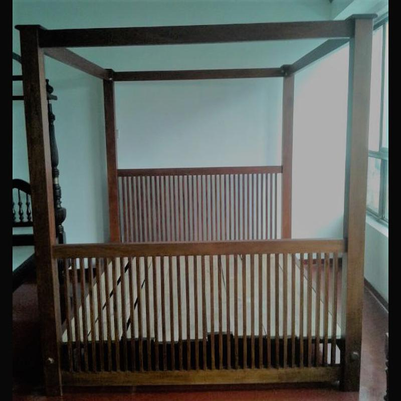 Jackwood King size bed with canopy