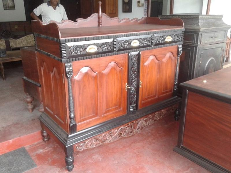 Jackwood and Ebony Sideboard Antique