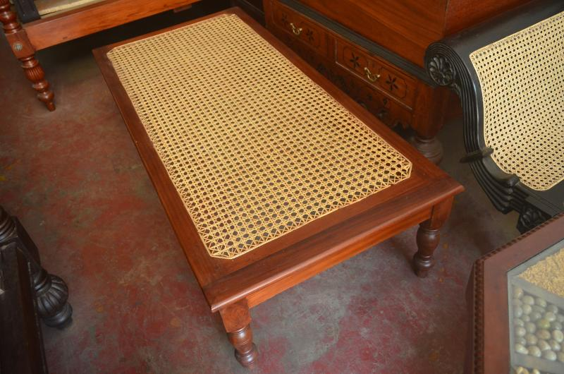 Jackwood weaved bench