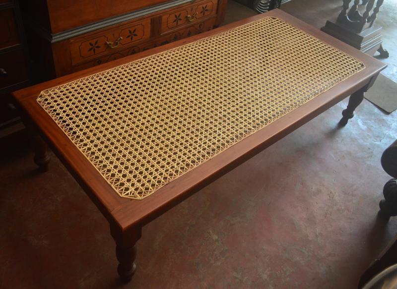 Jackwood weaved bench