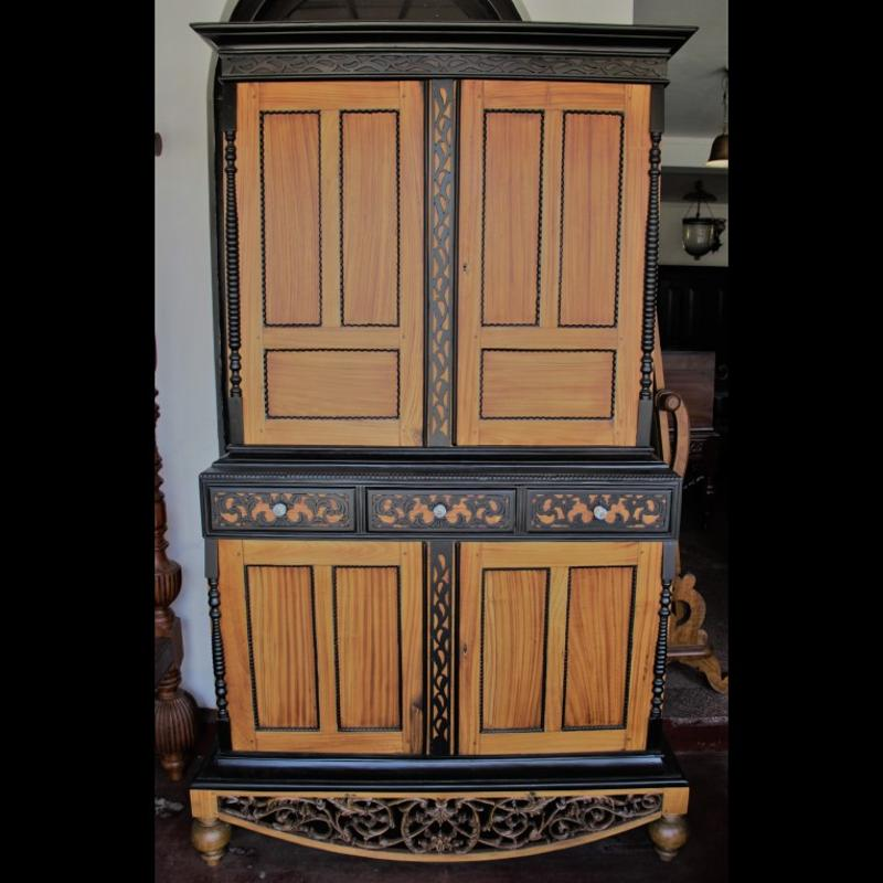 Satin wood and Ebony Almirah Antique