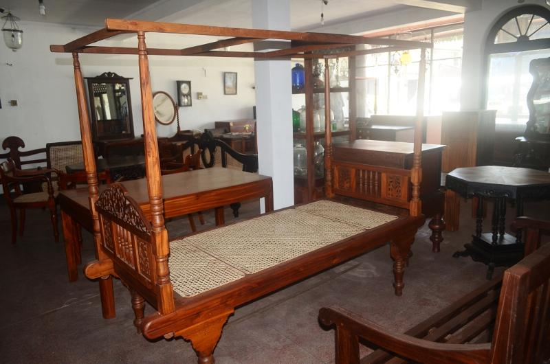 Single Bed with Canopy