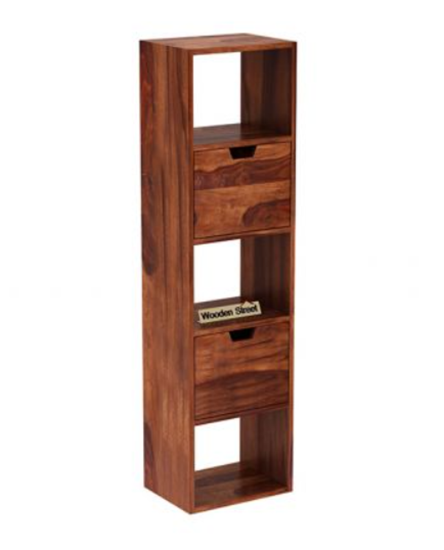 Teak Wall Rack with drawers