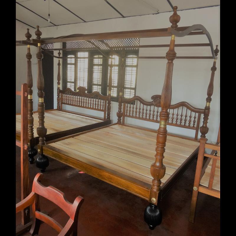 Teak Canopy Bed